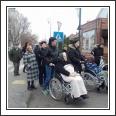 Az idősek napközi otthona lakói az Erzsébet-napi vásárban